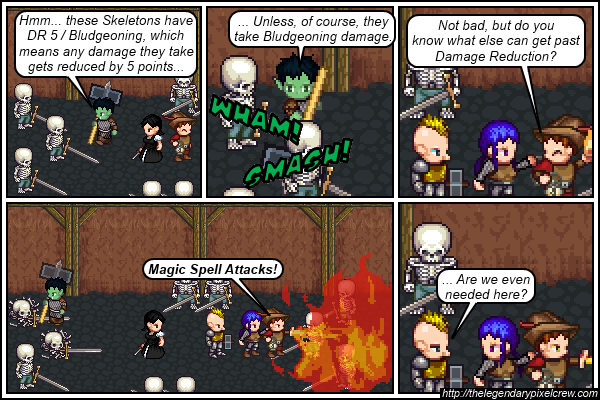 """Strip 383 - """"How to bypass Damage Reduction"""""""
