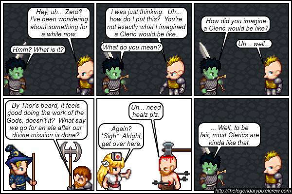 "Strip 440 - ""The many different types of Clerics"""