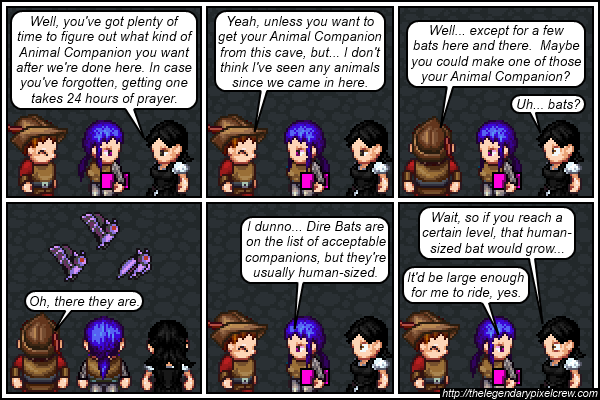 """Strip 469 - """"Giant Spiders are on that list too"""""""