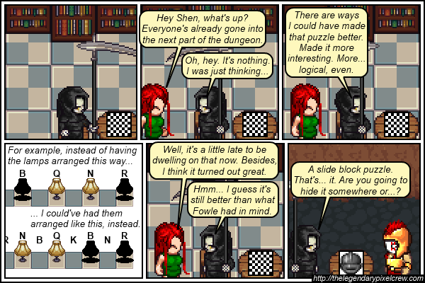 """Strip 557 - """"At least he didn't go a reflavoured Knights and Knaves puzzle"""""""