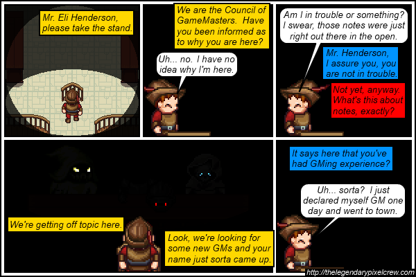"""Strip 642 - """"The Council of GameMasters"""""""