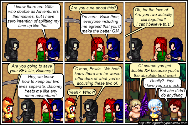 """Strip 645 - """"Besides, they're not BF and GF... anymore"""""""