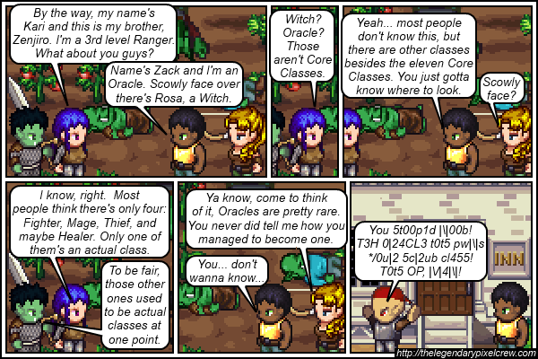 """Strip 095 - """"Disregarding poor manners and grammer, sometimes you find one who has a point"""""""