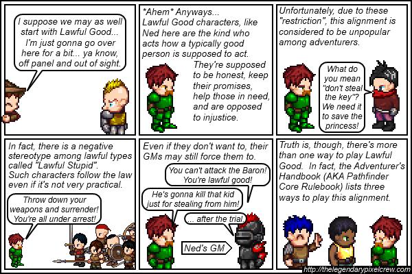 Strip 136 - Alignment Tutorial - Part 2 (Lawful Good)