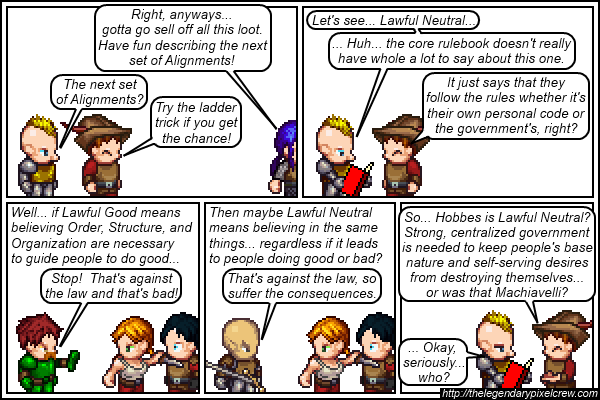 Strip 142 - Alignment Tutorial - Part 8 (Lawful Neutral)