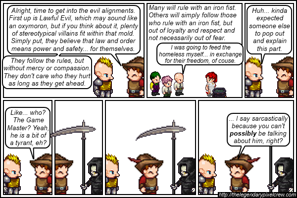 Strip 145 - Alignment Tutorial - Part 11 (Lawful Evil)