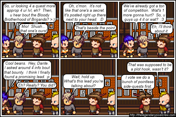 "Strip 168 - ""Accept Quest? Y/N?"""
