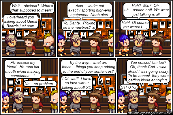 "Strip 167 - ""Don't ask how she's doing that... please... >_>"""