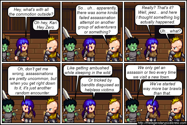 "Strip 181 - ""Also beware of pickpockets, tipped over wagons, and anyone who offers you food"""