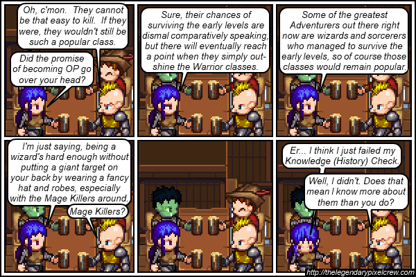 "Strip 206 - ""That's setting information, so..."""